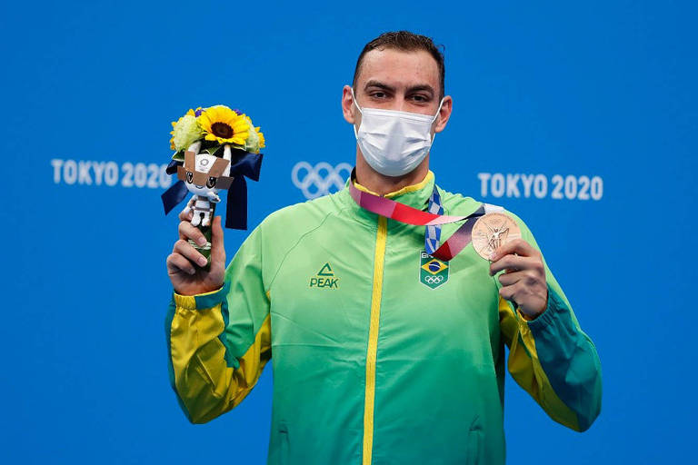 Fernando Scheffer é medalha de bronze na natação em Tóquio