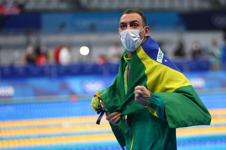 Pandemia fez Fernando Scheffer nadar em açude antes de bronze nas Olimpíadas