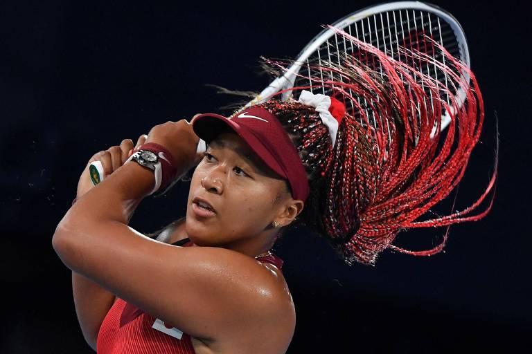 Queridinha do Japão, Naomi Osaka vê sonho olímpico no tênis sucumbir a pressão