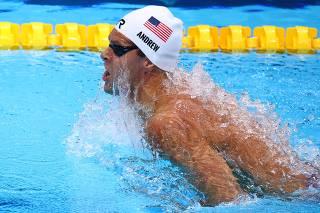 Swimming - Men's 100m Breaststroke - Heats