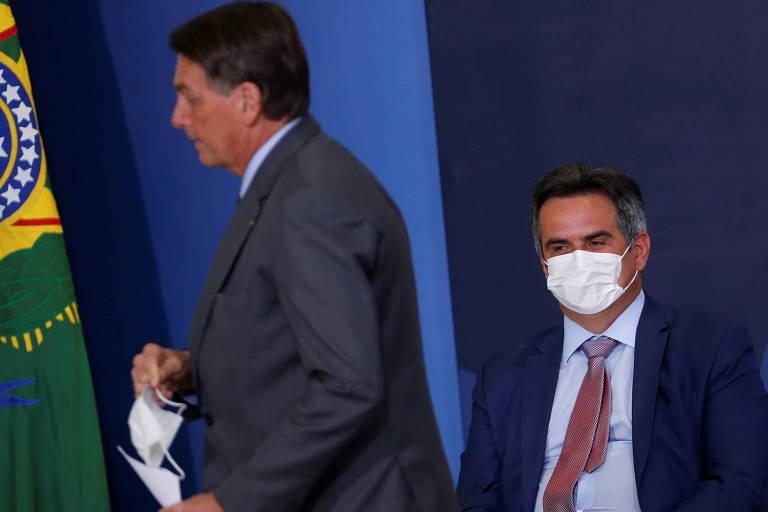 O presidente Jair Bolsonaro e o senador licenciado Ciro Nogueira (PP-PI), que assumiu a chefia da Casa Civil do governo