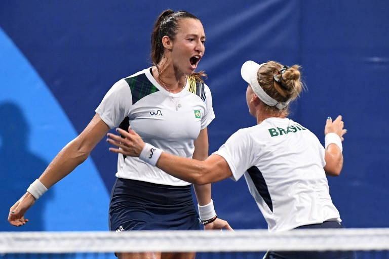 Stefani e Pigossi vencem e igualam melhor marca do Brasil no tênis em Olimpíadas