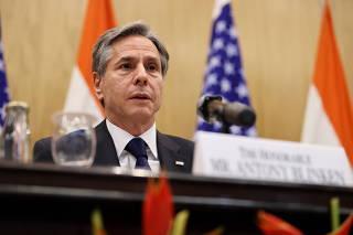 U.S. Secretary of State Blinken and India'sMinisterofExternalAffairsJaishankar hold a joint news conference in New Delhi