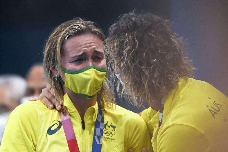 Titmus, 'a exterminadora', ofusca brilho de Katie Ledecky na natação das Olimpíadas