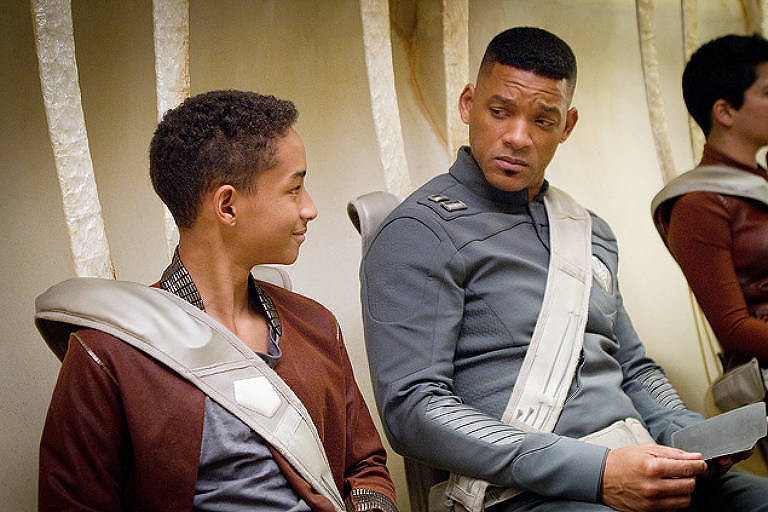 "Jaden e seu pai, Will Smith, protagonizam ""Depois da Terra"""