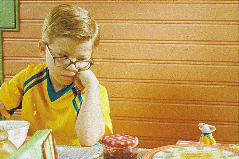 O ator Jonathan Lipnicki em cena do filme 'Stuart Little'