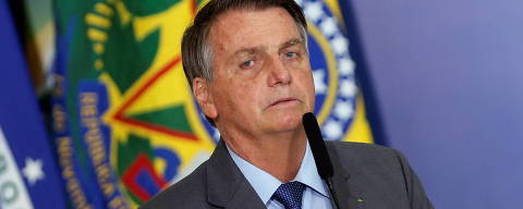 Brazil's President Jair Bolsonaro talks during a ceremony of signing a decree establishing the Public Integrity System of the Federal government at the Planalto Palace in Brasilia, Brazil July 27, 2021. REUTERS/Adriano Machado ORG XMIT: GGGAHM24