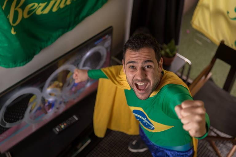 Saulo sempre acompanha os jogos olímpicos