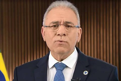 BRASILIA, DF,  BRASIL,  28-07-2021, Pronunciamento do ministro da saúde Marcelo Queiroga  ( Foto: Reprodução / tv Globo )