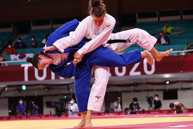 Mayra Aguiar disputa a categoria 78 kg do judô nas Olimpíadas de Tóquio