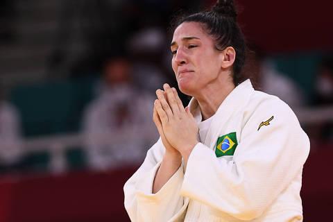 Mayra Aguiar ri, chora e fala de TPM após medalha de bronze nas Olimpíadas