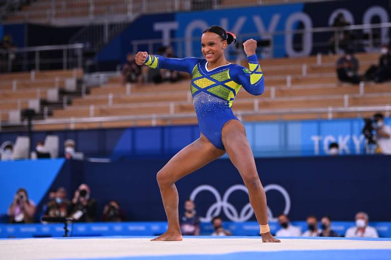 Rebeca Andrade conquista prata na ginástica em Tóquio, e famosos celebram