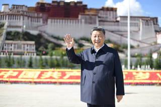 CHINA-TIBET-XI JINPING-INSPECCION