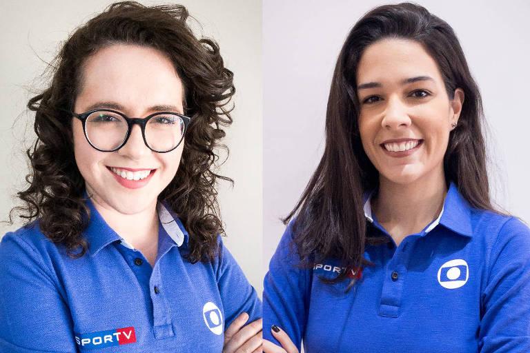 Narradoras Natália Lara e Renata Silveira, da Globo