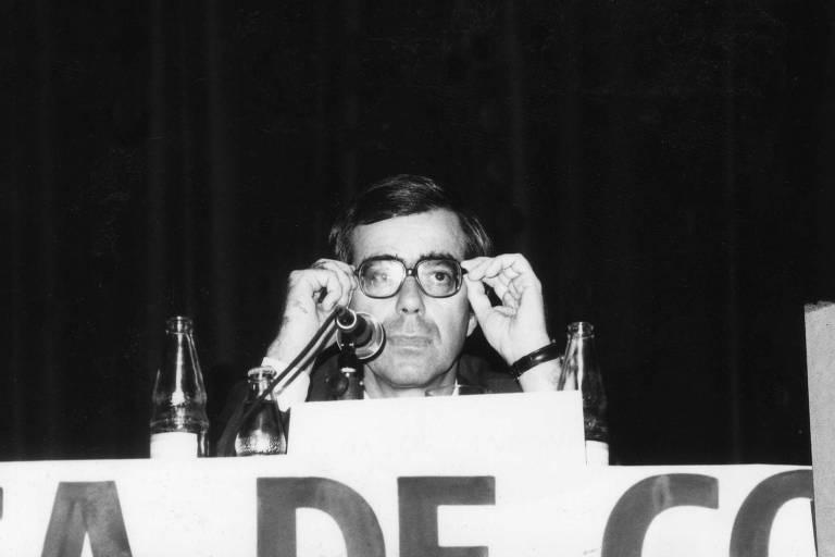 O economista Carlos Geraldo Langoni no Seminário Internacional de Comércio Exterior em Brasília, em 1988