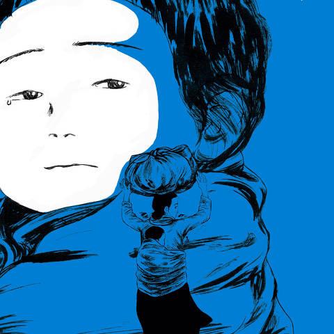 Trecho de 'A Espera', segunda graphic novel da sul-coreana Keum Suk Gendry-Kim a ser lançada no Brasil