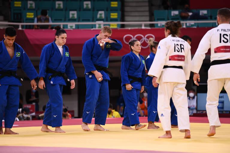 Brasil ficou fora da briga por medalha no judô por equipes em Tóquio