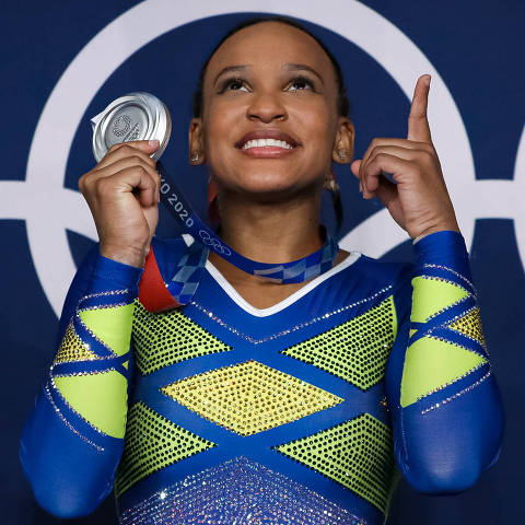 Rebeca Andrade conquista prata nas Olimpíadas de Toquio. (Foto:Ricardo Bufolin//CBG/Divulgação )