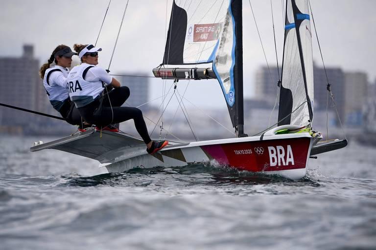 Martine Grael and Kahena Kunze defenderão o ouro olímpico na segunda (2)