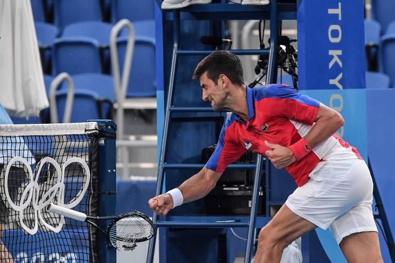 Stefani e Pigossi levam bronze, e Djokovic quebra raquete após perder medalha