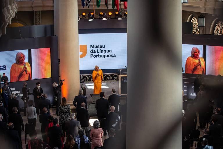 Fafá de Belém canta em reinauguração do Museu da Língua Portuguesa