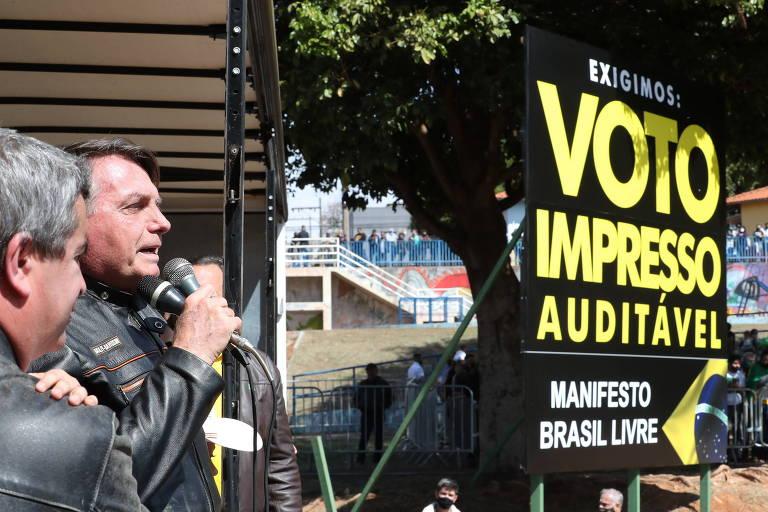 Bolsonaro volta a ameaçar eleições em evento com apoiadores no interior de SP