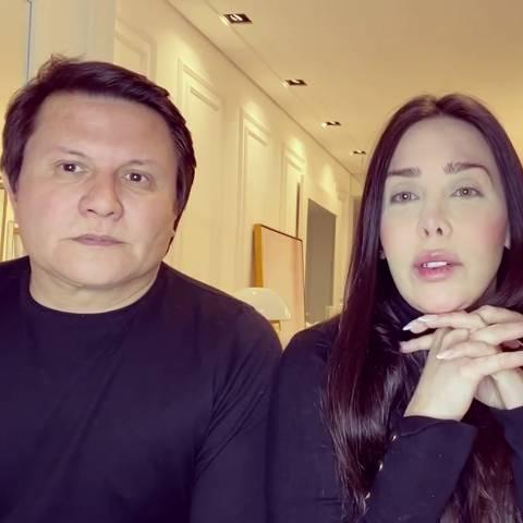 O sertanejo Giovani e a esposa, Ana Carolina Morais, falam sobre acidente sofrido neste sábado (31) em SP