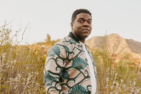 The actor Sam Richardson in Los Angeles, June 16, 2021. After a turn on the HBO comedy, Richardson now fights alongside Chris Pratt in ÒThe Tomorrow War.Ó But big-screen heroism isnÕt as easy as it looks. (Adam Amengual/The New York Times) ORG XMIT: XNYT65