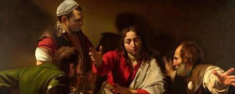 Caravaggio compôs cuidadosamente 'A Ceia em Emaús' para refletir a dinâmica da cena que estava representando