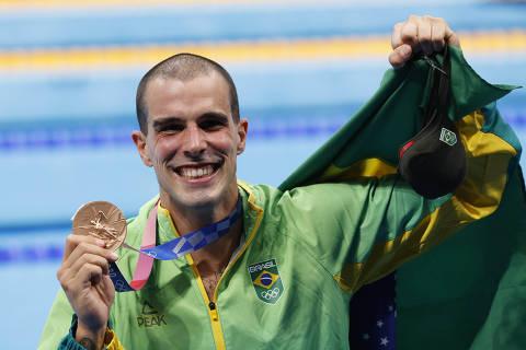 Fratus pensou em 'sumir da face da terra' e foi salvo pelo amor antes do bronze nas Olimpíadas