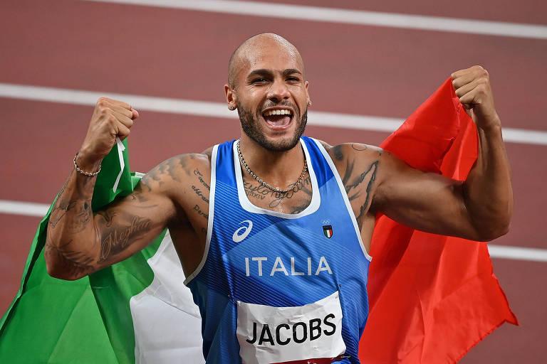 Novo homem mais rápido do mundo, italiano só não escapa de medalhista de ouro no salto