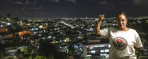 RECIFE/PE - 20/07/2021 - movimento de maes contra violencia policial.  PERSONAGEM: Joelma Andrade no centro comunitario que ela criou no bairro de Ibura, onde vive, depois de perder o filho,  Mario Andrade (FOTO: Leo Caldas/Folhapress) *** EXCLUSIVO FOLHA ***
