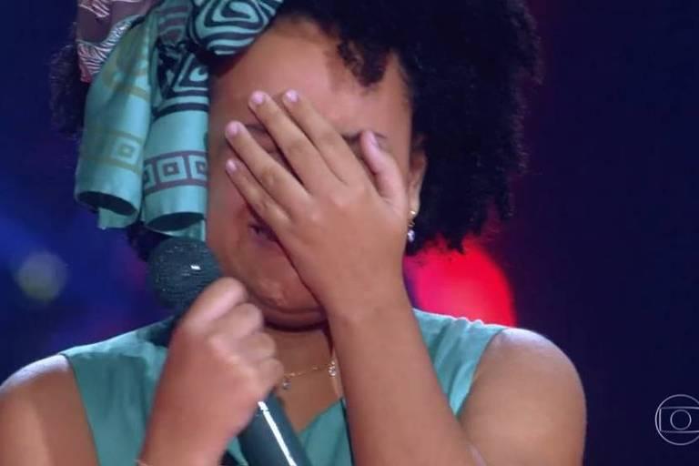 Maria Alice Xavier foi escolhida por Carlinhos Brown e continuará no The Voice Kids
