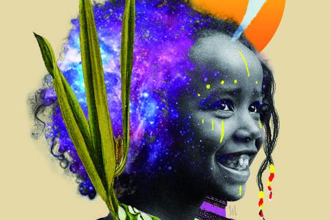 Ilustração de Silvelena Gomes para o 'Especial sobre Afrofuturismo' da primeira turma de treinamento para jornalistas negros