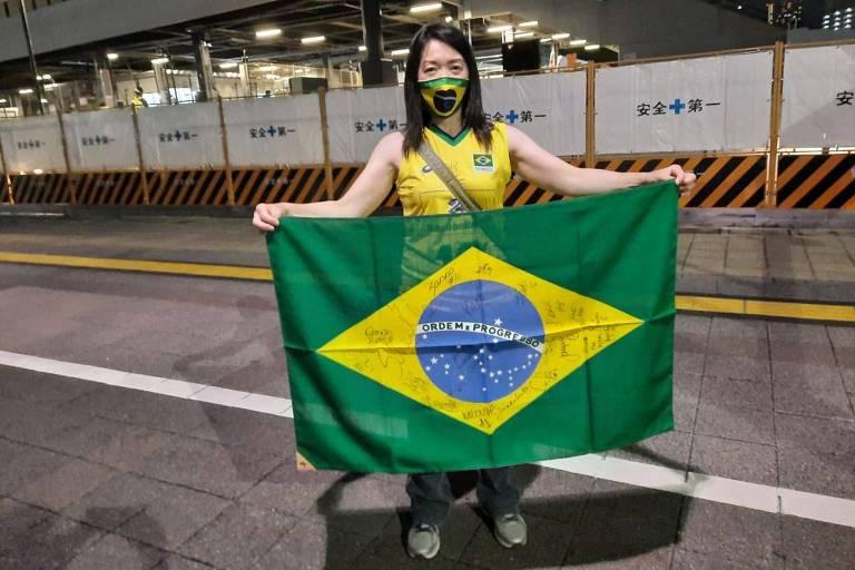 Ayako Iwamura, moradora de Tóquio e torcedora da seleção brasileira de vôlei feminino