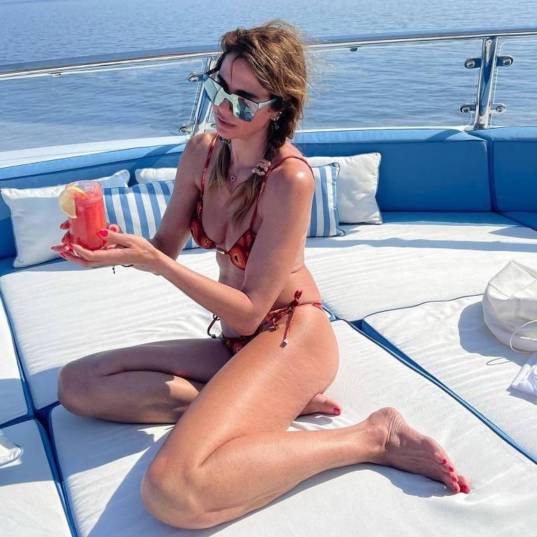 Luciana Gimenez, apresentadora, em Ibiza, na Espanha