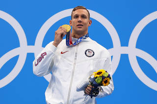 Swimming - Men's 50m Freestyle - Medal Ceremony