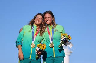 Sailing - Women's 49er FX - Medal Ceremony