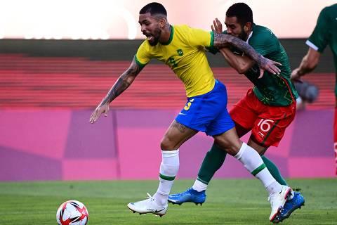 Brasil evita nova queda para o México nas Olimpíadas e buscará o bi no futebol