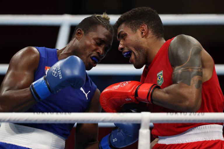 Abner Teixeira não conseguiu superar o cubano Julio César La Cruz nesta terça (3)