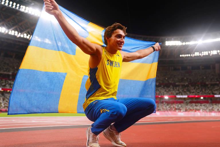 Duplantis nasceu nos Estados Unidos, mas escolheu competir pela Suécia, país de sua mãe