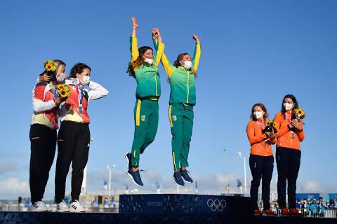 Brasil ganha 1 ouro e 3 bronzes no melhor dia olímpico e chega perto do recorde da Rio-2016