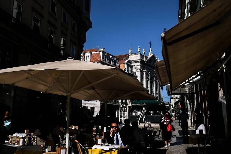 Restaurante no bairro Chiado, em Lisboa