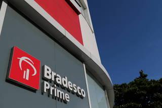 FILE PHOTO: The Brazilian bank Bradesco branch is seen in Rio de Janeiro