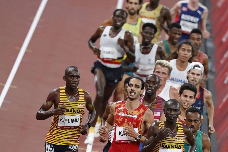 Jamal disputou a prova dos 5000 m