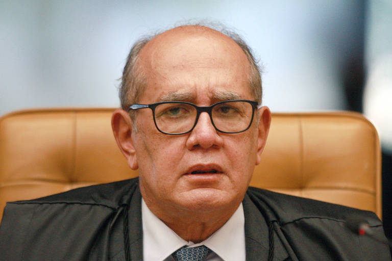 O ministro Gilmar Mendes durante a reabertura dos trabalhos do Supremo, na segunda (2)