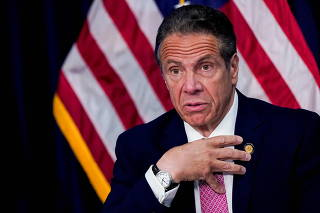 FILE PHOTO: New York Governor Cuomo holds a news conference, in New York