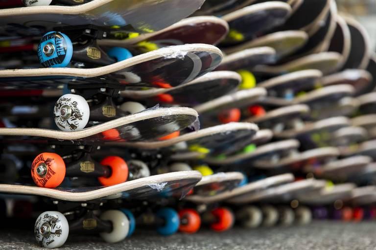 Olimpíadas e medalhas de brasileiros aqueceram o comércio de skates