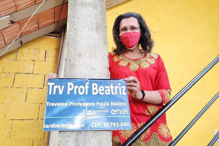 1ª diretora trans de escola pública em São Paulo vira nome de travessa no Capão Redondo