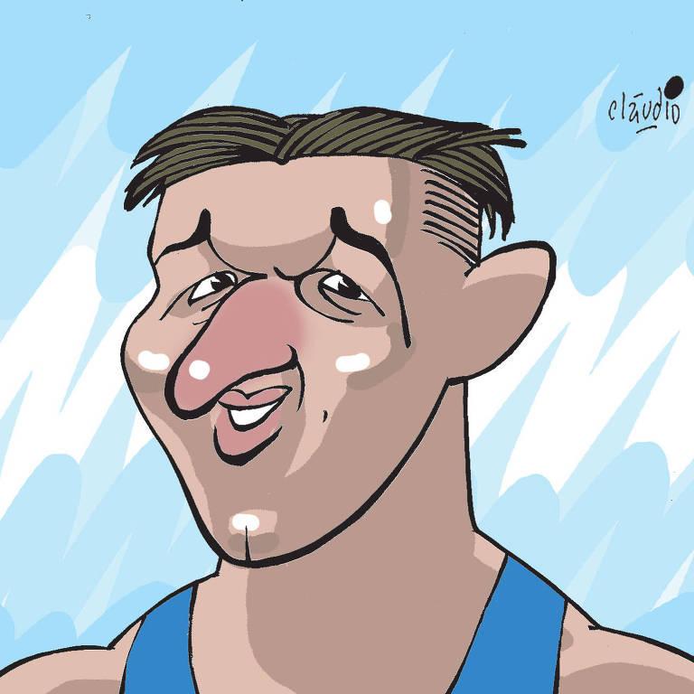 charge do atleta Isaquias Queiroz da coluna Mundo Olímpico de 4 de agosto